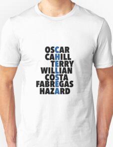 Chelsea spelt using player names Unisex T-Shirt