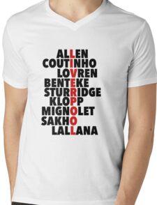 Liverpool spelt using player names Mens V-Neck T-Shirt