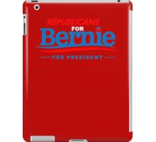 Republicans for Bernie for President - Sharp Red iPad Case/Skin