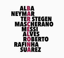 Barcelona spelt using player names Unisex T-Shirt
