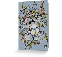 Intoxicated Aussie Drop Bear Greeting Card