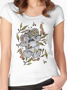 Intoxicated Aussie Drop Bear Women's Fitted Scoop T-Shirt