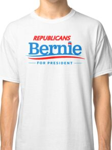 Republicans for Bernie for President - Sharp Red Classic T-Shirt