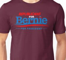 Republicans for Bernie for President - Sharp Red Unisex T-Shirt