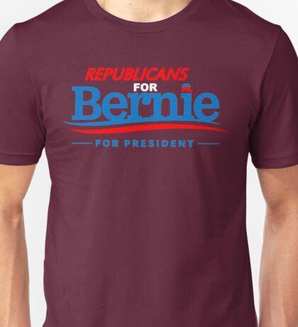 Republicans for Bernie for President - Sharp Red Unisex T-Shirt