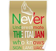 ITALIAN SIGN LANGUAGE Poster