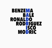 Madrid spelt using player names Unisex T-Shirt