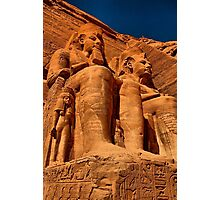 Egypt. Abu Simbel Temple. Statues of Ramesses II. Photographic Print