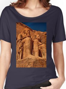 Egypt. Abu Simbel Temple. Statues of Ramesses II. Women's Relaxed Fit T-Shirt