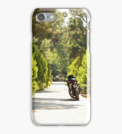 bike on the road iPhone Case/Skin