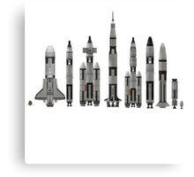 NASA Spacecraft Throughout History Canvas Print