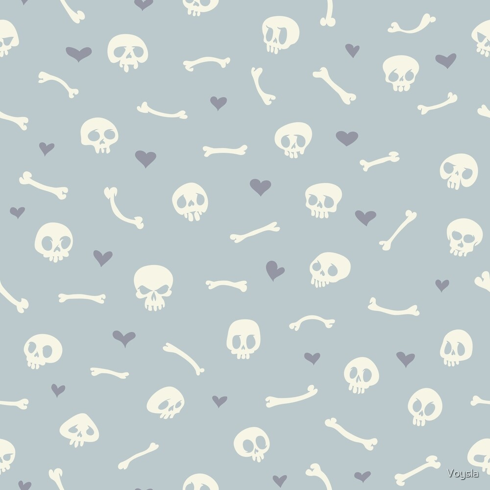 Baby blue hearts background