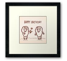 Sheep happy birthday card Framed Print
