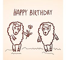 Sheep happy birthday card Photographic Print