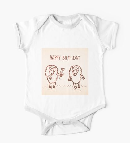Sheep happy birthday card One Piece - Short Sleeve