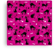 Cute Pink Cats Canvas Print