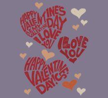 Valentine's Day, i love you Kids Tee