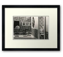 Hanging a painting - Tim Burton Framed Print