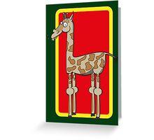 Bob the Giraffe Greeting Card