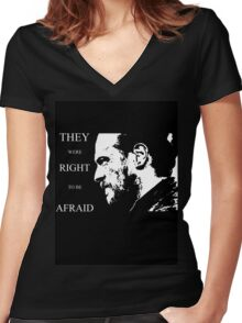 They were right to be afraid [cpt. Flint] Women's Fitted V-Neck T-Shirt