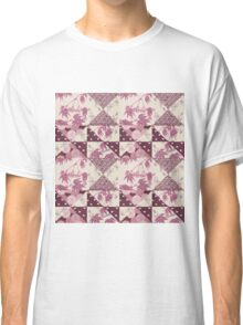 Pink Origami Patchwork Classic T-Shirt