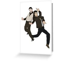 Niko and Roman from GTA IV Greeting Card