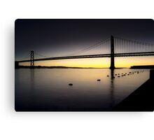 Bay Bridge Sunrise, SF Canvas Print