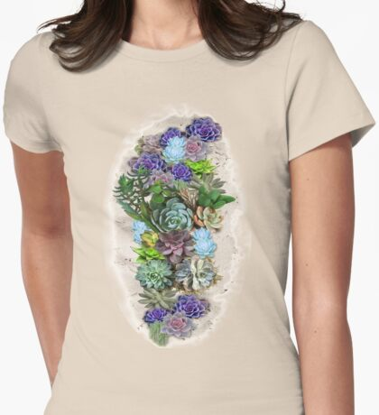 South Africa  Succulents Womens Fitted T-Shirt