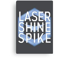 Laser Shine Spike Canvas Print