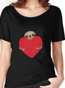 Funny sloth with heart Women's Relaxed Fit T-Shirt