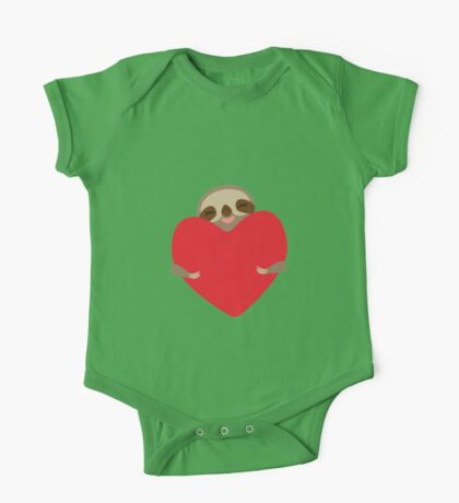Funny sloth with heart One Piece - Short Sleeve