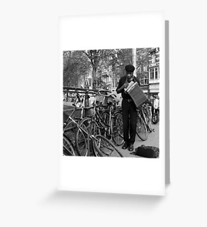 Music for the bicycles Greeting Card