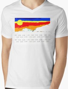 FOOTSTEPS IN THE SNOW Mens V-Neck T-Shirt