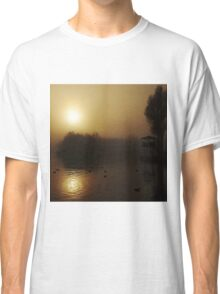 Misty Golden Morning at the Lake 2 Classic T-Shirt