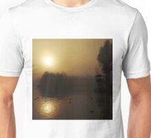 Misty Golden Morning at the Lake 2 T-Shirt