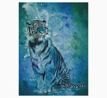 watercolor tiger One Piece - Short Sleeve