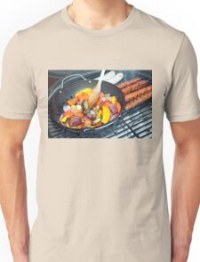 Barbecue Vegetables and Kebabs on Hot Coals Unisex T-Shirt