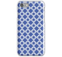 Pattern - White and Blue - See iPhone Case/Skin