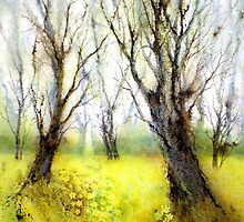 Carpets of Gold (Original painting sold) by Jacki Stokes