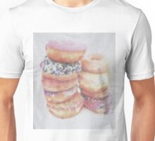 Amys donut tee (faking it) Unisex T-Shirt