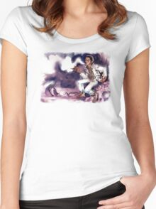 MOON KUSH Women's Fitted Scoop T-Shirt