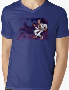 MOON KUSH Mens V-Neck T-Shirt