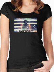 A$AP ROCKY MULTICOLOR Women's Fitted Scoop T-Shirt