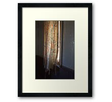 Its Curtain time. Framed Print