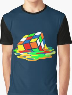Big Bang Theory Sheldon Cooper Melting Rubik's Cube cool geek Graphic T-Shirt