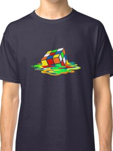 Big Bang Theory Sheldon Cooper Melting Rubik's Cube cool geek Classic T-Shirt