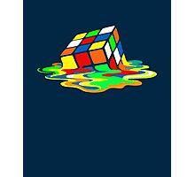 Big Bang Theory Sheldon Cooper Melting Rubik's Cube cool geek Photographic Print