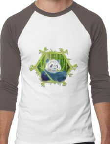 abstract panda Men's Baseball ¾ T-Shirt