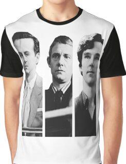 Sherlock - Jim Moriarty, John Watson, Sherlock Holmes Graphic T-Shirt