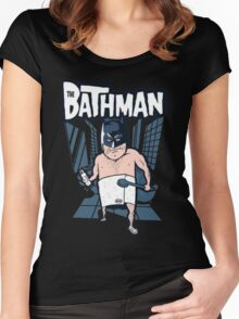 The Bathman (Incredible super hero with washing superpowers) Women's Fitted Scoop T-Shirt